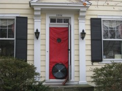 outside view blower door test