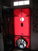 inside view blower door test