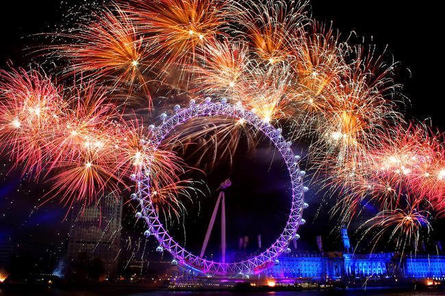 New Year's Celebration at the London Eye.