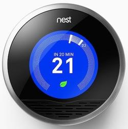 The Nest programmable thermostat.