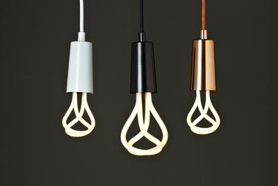 Plumen designer CFL light bulbs.