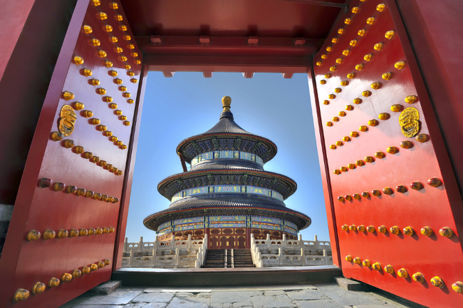New Year's LED celebration at the Temple of Heaven in Beijing.