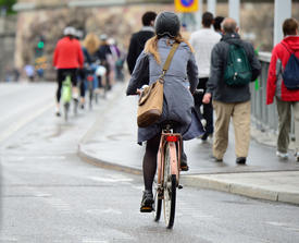 Cities with well-established bike infrastructure are more energy efficient.