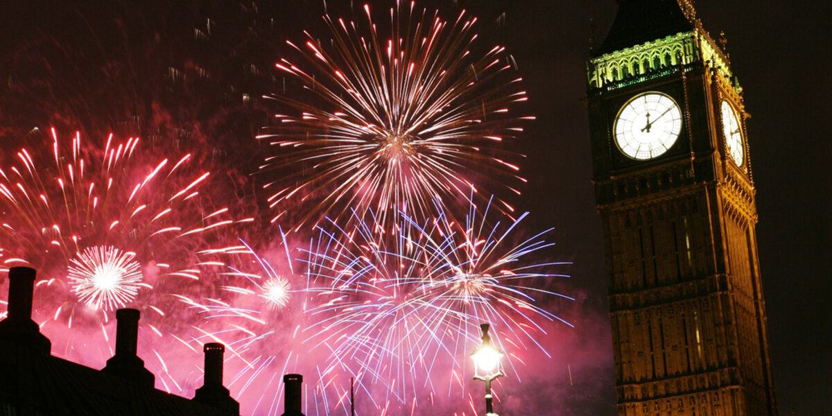 New Year's celebration in London.