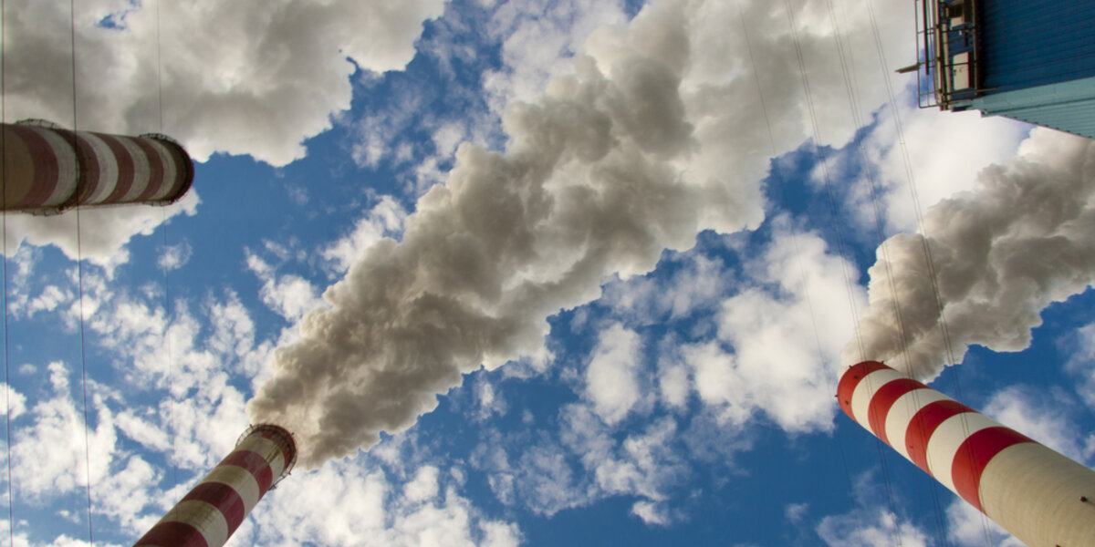 CO2 carbon emissions from power plant