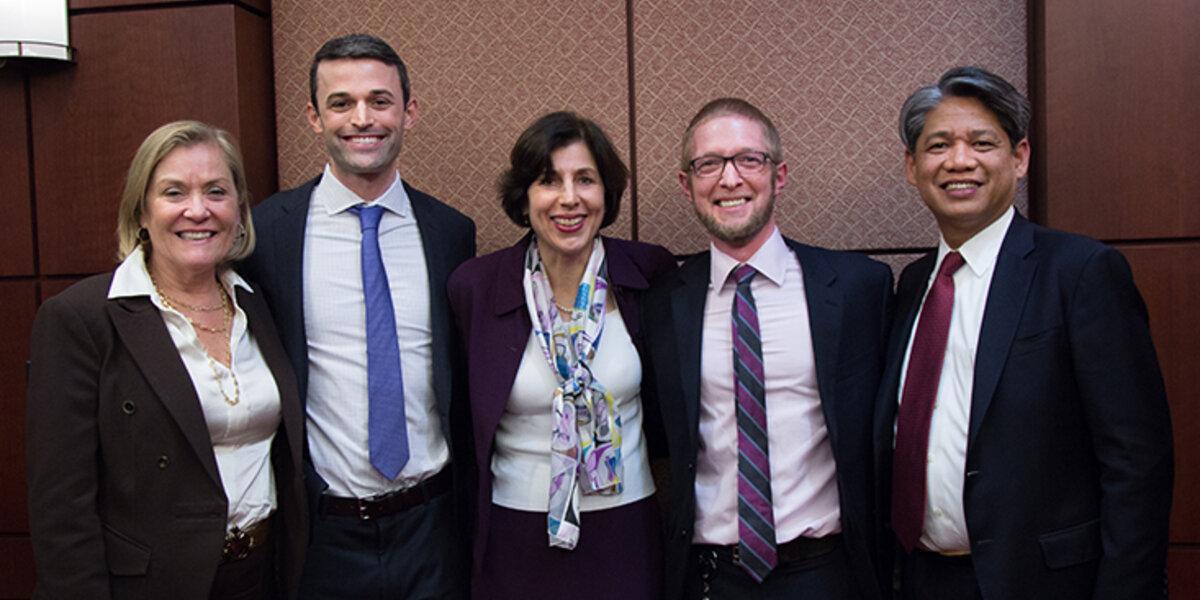 Kateri Callahan, Mark Fowler, Maria Vargas, Chester Carson and Gil Quiniones at the Unsung Hero Awards Reception.